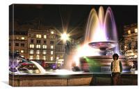 Fountain Trafalgar Square, Canvas Print