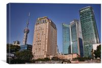 Shangri-La and Pearl Tower, Pudong, Shanghai, Canvas Print