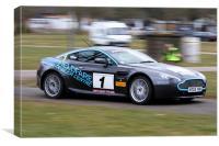 Aston Martin Rallycar, Canvas Print