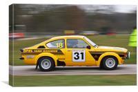 Kadett GTE Rallycar, Canvas Print