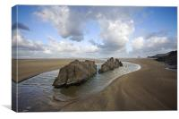 Woolacombe Beach, Canvas Print