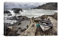 Hartland Quay fishing boat, Canvas Print