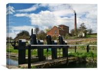Crofton beam engines, Canvas Print