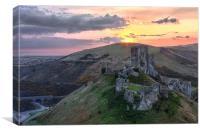 Corfe Castle, Canvas Print