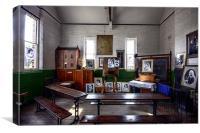 Victorian classroom, Canvas Print