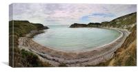 Lulworth Cove Panorama, Canvas Print