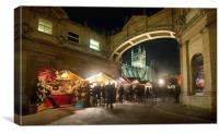 Bath Christmas Market, Canvas Print