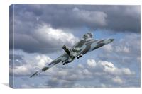 Avro vulcan bomber xh558 at Abingdon air show., Canvas Print
