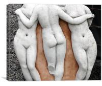 Naked ladies, Canvas Print