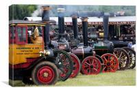 Steam engine rally, Canvas Print