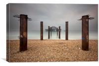 Brighton west pier remains, Canvas Print