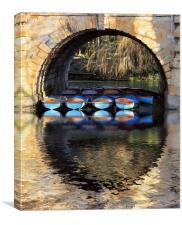 oxford rowing boats, Canvas Print