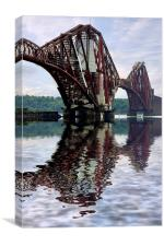 Forth railway bridge Scotland, Canvas Print