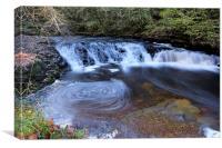 Sgwd y Bedol waterfall, Canvas Print