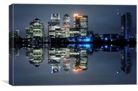 Canary Wharf London, Canvas Print