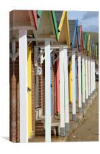 Swanage beach huts, Canvas Print