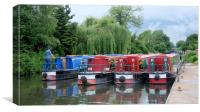 Kennet and Avon Canal narrow boats, Canvas Print