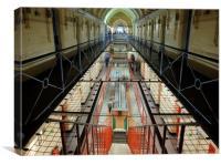 Reading Prison C block, Canvas Print