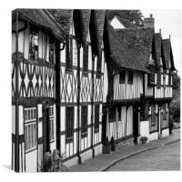 Warwick Black and White House, Canvas Print