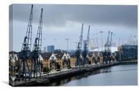 Royal Victoria Dock London, Canvas Print