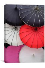 Parasols, Canvas Print