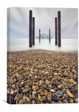 Brighton West Pier, Canvas Print