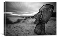 Moai carving, Canvas Print