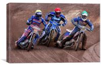 Speedway Riders, Canvas Print