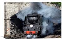 Manston 34070 Swanage railway, Canvas Print