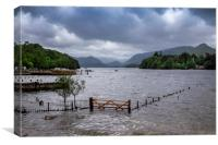 Derwent water Cumbria, Canvas Print