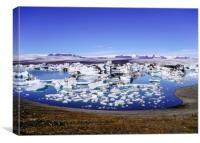 Jökulsárlón glacial lagoon Iceland, Canvas Print