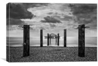 Brighton west pier, Canvas Print