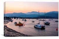 Barmouth bay north Wales, Canvas Print