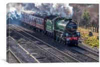 Steam engine Mayflower 61306, Canvas Print