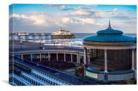 Eastbourne pier and bandstand, Canvas Print