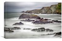 Hartland Quay north Devon, Canvas Print