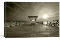 Sepia Swanage Pier, Canvas Print