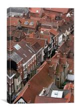 York roof tops, Canvas Print