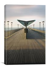 Boscombe Pier Shelter, Canvas Print