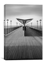 Boscombe Pier - B&W version, Canvas Print