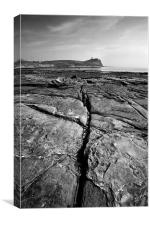 Kimmeridge Rocks, Canvas Print