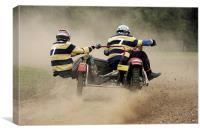 Sidecar scramble racing, Canvas Print