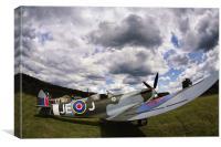 Spitfire JEJ EN398, Canvas Print