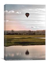 balloon over Port Meadow, Oxford, Canvas Print