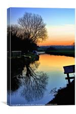 sunset on the canal, Canvas Print