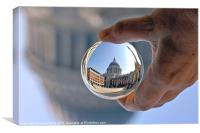 St Pauls in a crystal ball, Canvas Print