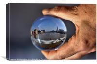 The Shard through a crystal ball, Canvas Print