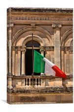 Italian flag, Canvas Print