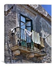 balcony scene, Canvas Print