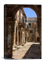 through the arch, Noto, Canvas Print
